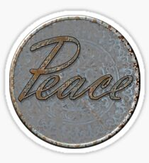 Steampunk Peace Sticker