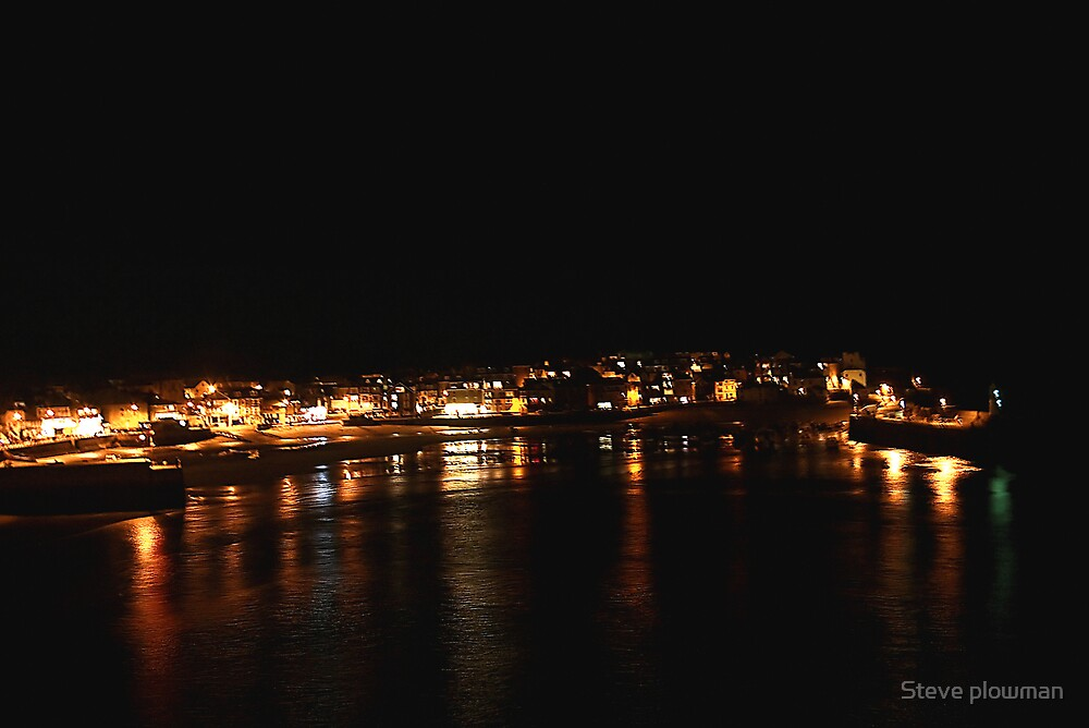 St Ives at night by Steve plowman