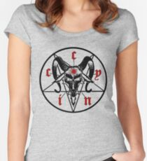 cynic occult WHITE Women's Fitted Scoop T-Shirt