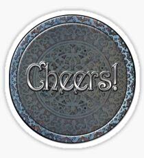 Steampunk Cheers! Sticker