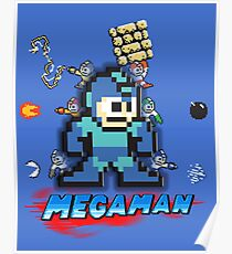 Megamans - Power ups Poster