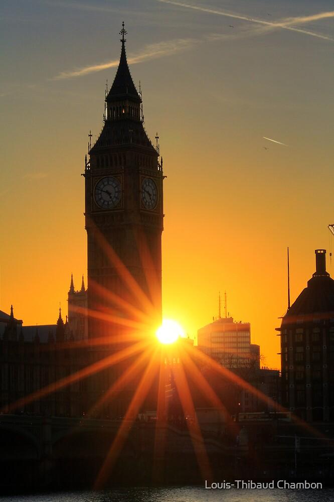 Sunset on Big Ben by Louis-Thibaud Chambon