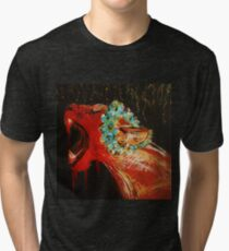 Lioness Acrylic Painting on Canvas Tri-blend T-Shirt