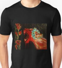 Lioness and Lilies: Acrylic T-Shirt