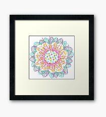 Flower Burst Mandala Framed Print