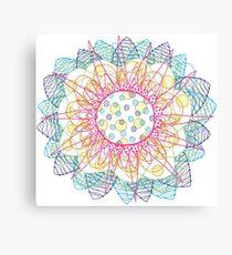 Flower Burst Mandala Canvas Print