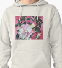 Camellia and Flower Buds Pullover Hoodie
