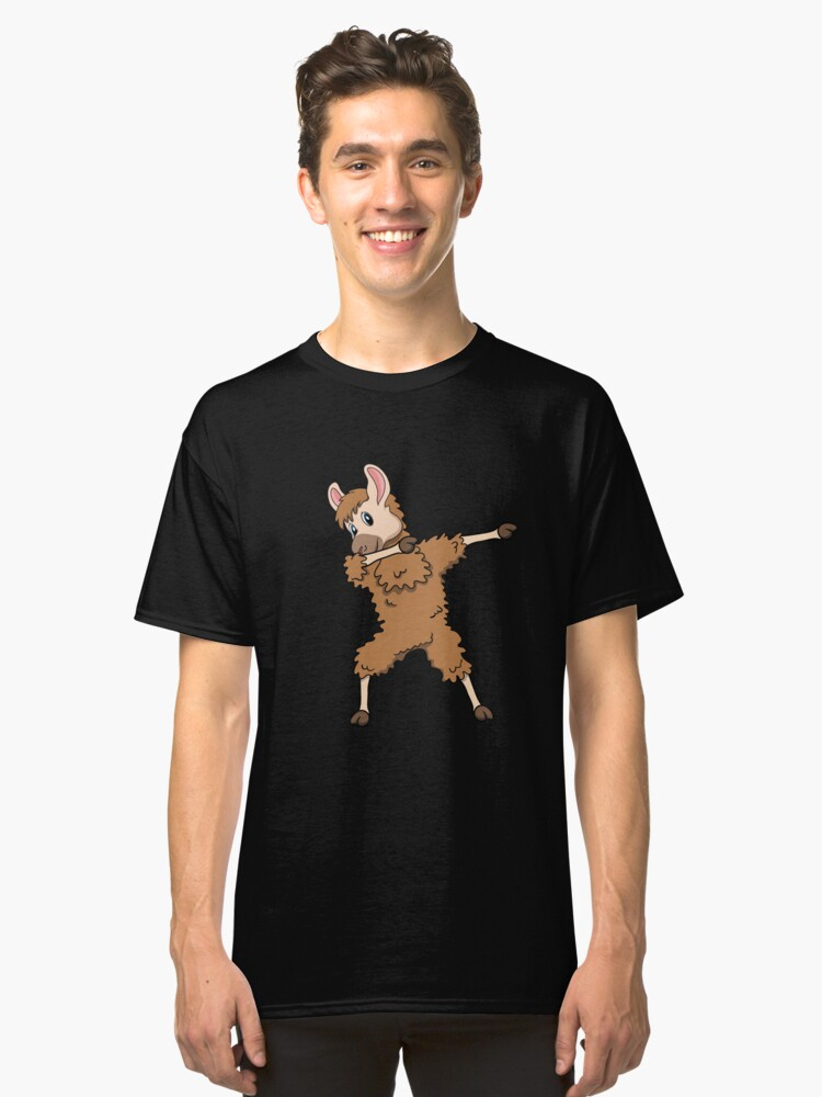 Dabbing Llama  Christmas  Fa La La Llama Mama  Fleece Navidad  Pajama Llama Drama  Be Yourself Except T-Shirt Sweater Hoodie Iphone Samsung Phone Case Coffee Mug Tablet Case Gift Classic T-Shirt Front
