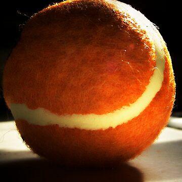 Orange Tennis Ball by MzScarlett