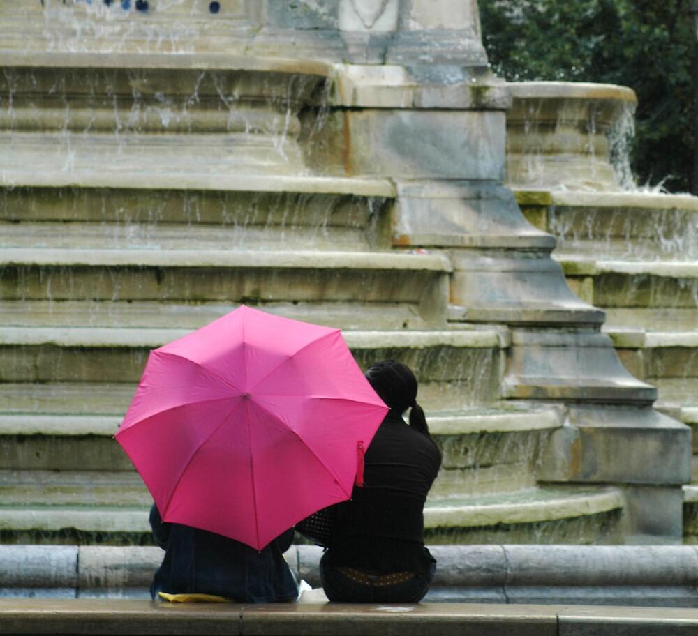 pink umbrella by ballain77