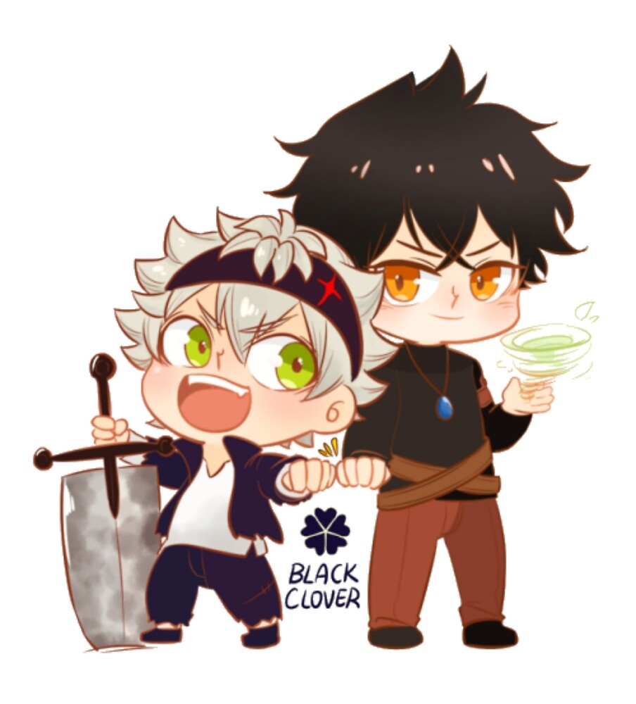 Black Clover Chibi Asta and Yuno by AestheticKiwi