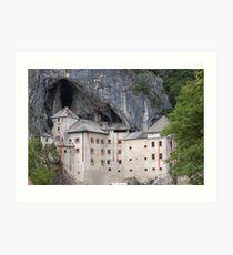 Predjama Castle in Slovenia Art Print
