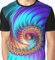 """Mesmerize"" | Fractal Art Spiral Pattern Graphic T-Shirt"