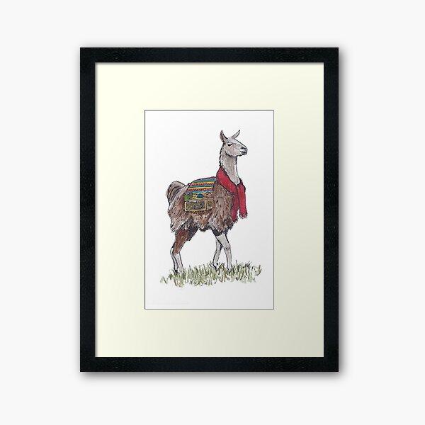 Llama the Yarnbringer  Framed Art Print