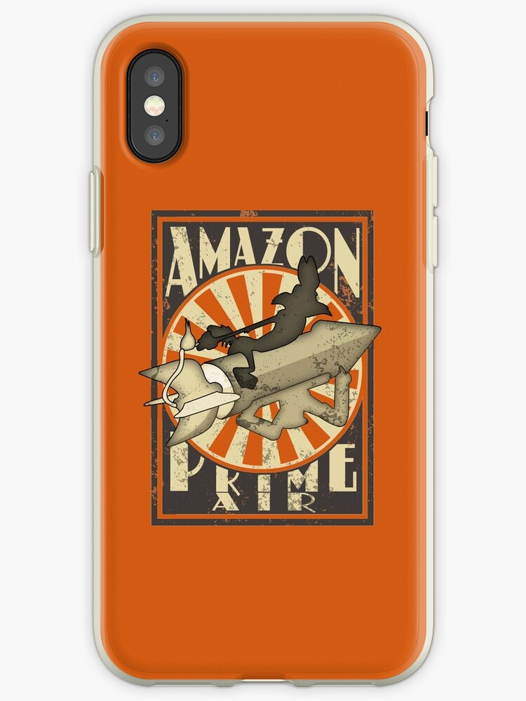new style 56410 13323 'Amazon Prime Air Cartoon' iPhone Case by mzethner
