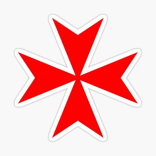 Maltese Cross Red Sticker