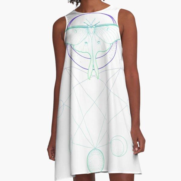 Pastel Moons A-Line Dress