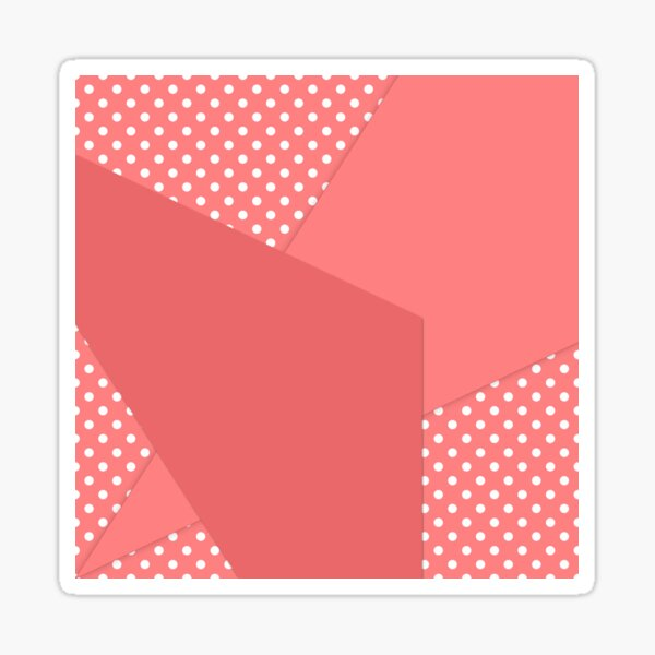 Coral abstract geometric pattern Sticker