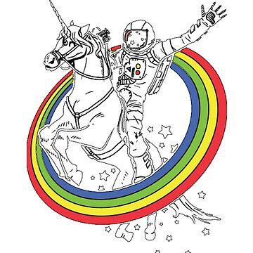 Astronaut riding a unicorn!  by LookasPT