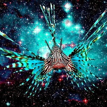 Space Lion Fish by lord-sativa