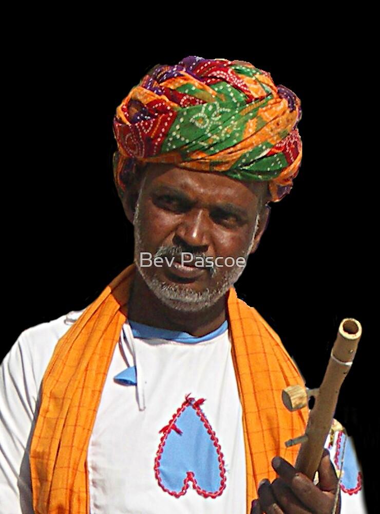 Jaipur Man, Rajasthan India by Bev Pascoe