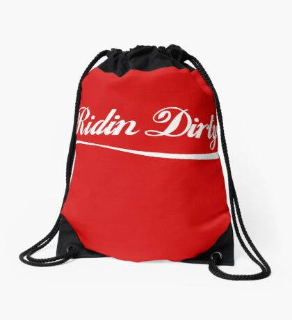 Ridin Dirty Cola swoosh Drawstring Bag