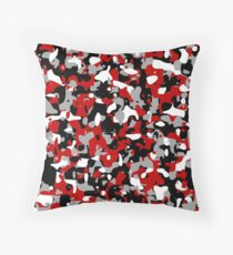 Cool red camo pattern Throw Pillow