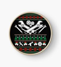 Merry Mechanic Ugly Christmas Sweater Funny Tshirt Clock