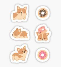 Corgi and Donuts Sticker