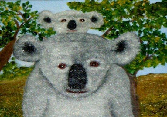 Koalas, Australia.   by C J Lewis