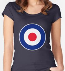Classic Roundel Graphic Women's Fitted Scoop T-Shirt