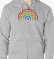 Pencil Rainbow Zipped Hoodie