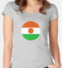 Roundel of Niger Air Force  Women's Fitted Scoop T-Shirt