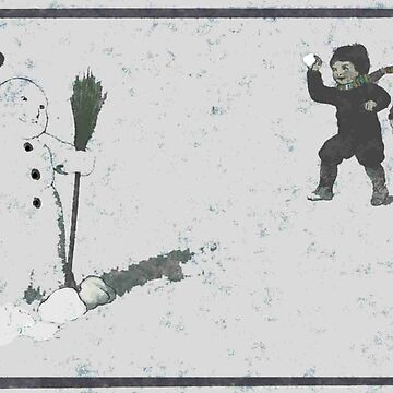 Snowball fight vintage by olph66