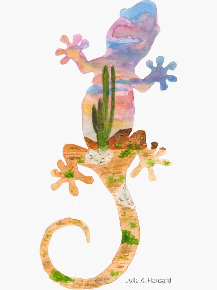 Silueta de Gecko - Desierto de Mojave, California de juliekhansard