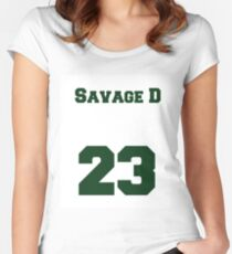 Savage D—Damarious Randall Women's Fitted Scoop T-Shirt