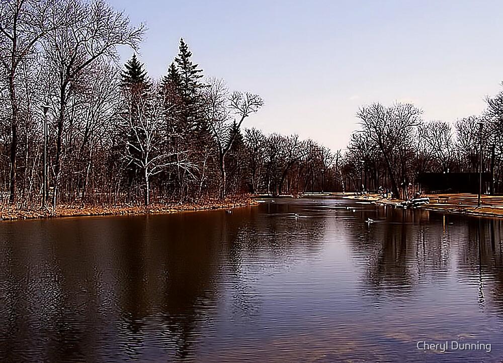 duck pond scene by Cheryl Dunning