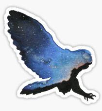 Owl Silhouette - Galaxy Sky Sticker