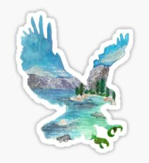 Eagle Silhouette - Lake Tahoe California Sticker