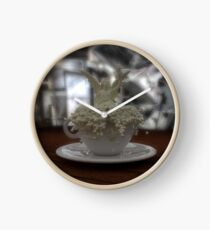 Literal Latte Art Clock