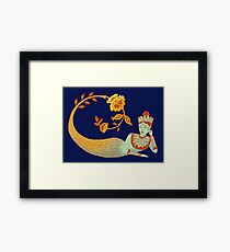 Flower Devi Green Goddess Framed Print