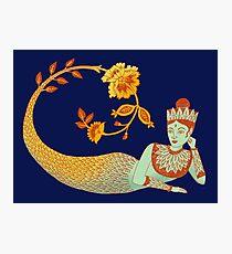Flower Devi Green Goddess Photographic Print