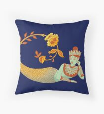 Flower Devi Green Goddess Floor Pillow