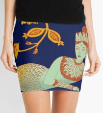 Flower Devi Green Goddess Mini Skirt