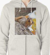Squirrel Meme Zipped Hoodie