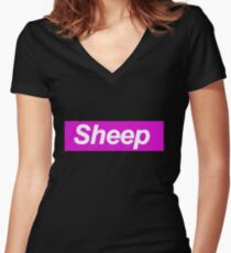 Sheep - Supreme Women's Fitted V-Neck T-Shirt