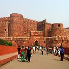 Agra Fort, India by Bev Pascoe
