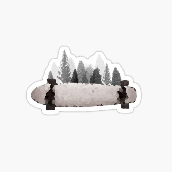 Forest Longboard Sticker