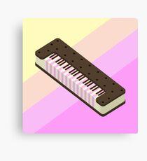 Ice cream Sandwich Keyboard Canvas Print