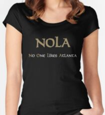 New Orleans NOLA No One Likes Atlanta Women's Fitted Scoop T-Shirt